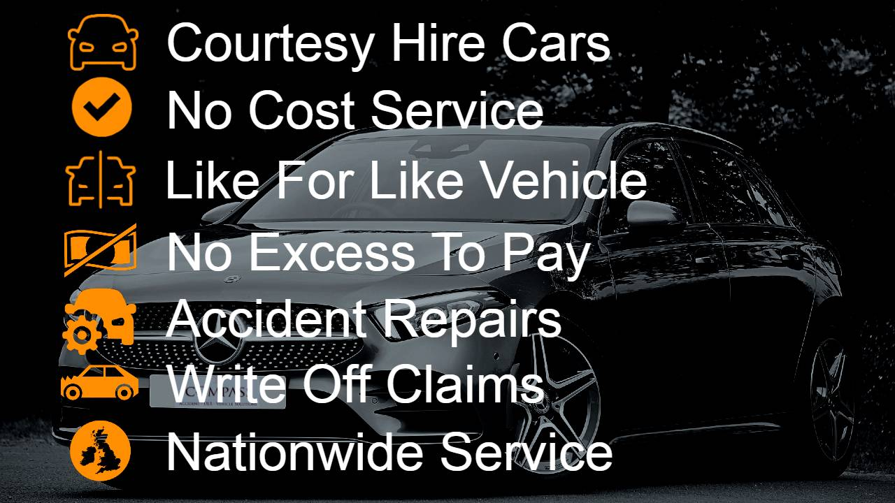 Non fault accident car hire